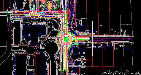 Cary Streetscape Roundabout (AutoCAD)