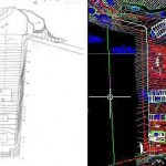 Pinehurst Utility Center - Grading, from paper to AutoCAD