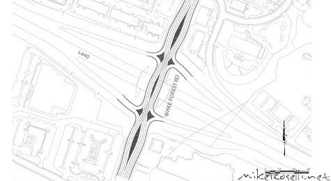 Diverging Diamond - Proposed for Wake Forest Rd. and I-440